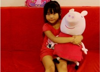 Freeshipping Peppa pig and Gorge pig plush toy ,big size can be a pig doll ,can be a pillow