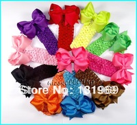 "20 pcs/lot  4"" Baby Girl  Toddlers Grosgrain Ribbon for Hair bows boutique Flower clips 1.5""  Crochet headband Free shipping H2"