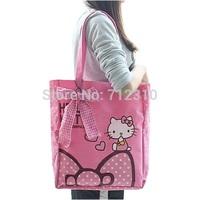 Factory Price Fashion Canvas Hello Kitty Bags /Shopping Bag/ Shoulder Handbag Messenger Bags/3 Colors HK09