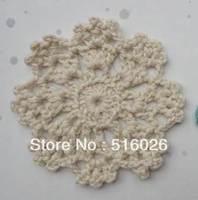 wholesale 50pcs/lot 8CM Crochet doily, handmade mini round doily coaster for table decor, crochet appliques free shipping