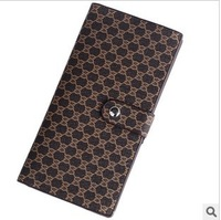Free Shipping Men's Wallet Geniune Leather Wallet Long Design Wallet For Men
