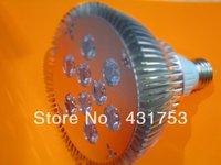 (Hot selling)3pcs 2 Years Warranty Free Shipping  CREE 27W (9*3W) 85V-265V/AC E27 High Power LED Spotlight PAR 38
