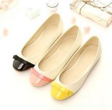 A sapataria pdpo 2013 na primavera e verão sapatos cheios apartamentos genuíno arco sapatos de couro pequenos estaleiros sapatos personaliza bonito 31(China (Mainland))