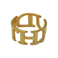 Gold plate custom name ring