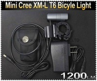 Mini CREE XM-L T6 1200LM LED Cycling Bike Bicycle Light Headlight Front Light MINI Lamp with Mount and Battery Pack and Charger~