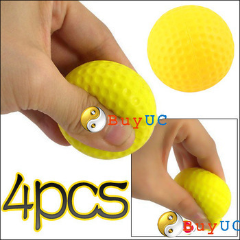 New Arrive: 4 Pcs Light Indoor Outdoor Training Practice Golf Sports Elastic PU Foam Balls wholesale