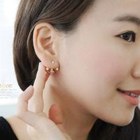 New Korean Lovely Cute Saturn Rhinestone Stud Earrings Hot