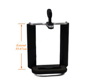 Free Ship + Track Black Large Size 50-85mm Universal Tripod Cell Phone Holder for Big Phone Samsung 9220 Note1 Note 2