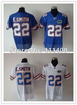cheap NCAA football jersey Florida Gators #22 Emmitt Smith Blue White jersey,embroidery logo,can mix order,free ship