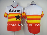 Free Shipping Wholesale Men's Baseball Jerseys Cheap Houston Astros Blank Jerseys,Embroidery Logos Mix Order
