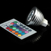 RGB 16CLOUR 3W GU5.3&MR16 AC85-265V  LED Bulb Light Spot Light  Magic Bar  Stage Lamp with 5years Warranty--Limited Time Offer