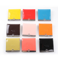 Brightness fluorescence wallet for Lady / PU Leather Purse / colorful choice / mini handbags + Free Shipping