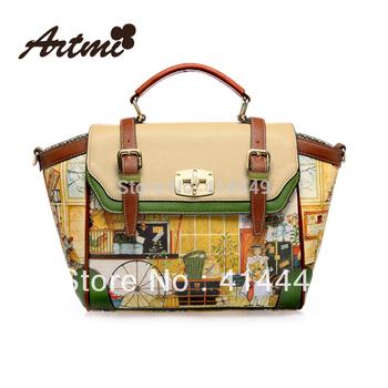 Artmi2015 autumn PU women's handbag fashion handbag vintage messenger bag fashion drop shipping hot item retro New free shipping
