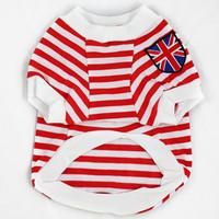 2 dog clothes pet clothes vest breathable 100% cotton stripe t-shirt teddy dog clothes summer