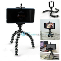 1Pcs Free shipping octopus Gorillapod Flexible Ball Leg Mini Tripod,with the clip for cell phone