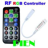 RF Mini RGB Controller 12A  Wireless DIY Dynamic 5V|12V|24V with Remote for RGB 5050 LED Strip Free Shipping 2pcs/lot