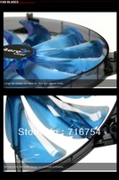 Wholesale Aerocool 12V 4Pin &3Pin 120mm x 25mm Cool Fashion  Silent-Maste in leaves Mute  Blue Color PC Case System Cooling Fan
