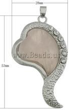 wholesale rose quartz heart pendant