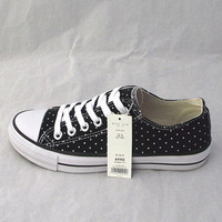 Kinds of candy color dot low lovers canvas shoes