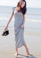 Ladies Casual Round Neck Sleeveless Ankle-Length Slim Waist Drawstring Back Solid Mini Dress XXS Free Shipping A527-9039