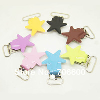 Free shipping!200pcs/lot,star shape suspender clip in colorful,Mixed colors high quality Suspender Clips Suppliers&Manufacturers