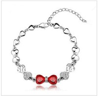 Free Shipping/Hot Selling White Gold Plated Shamballa & Crystal Bracelets Make With Austrian crystal Wholesale Fashion Jewelry