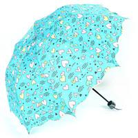 2013 Umbrella polyester umbrella princess arch irregular heart folding sun umbrella anti-uv protection umbrella free shipping