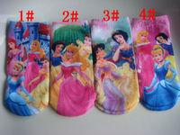 Kid's socks princess child cartoon socks sock slippers straight socks knee-high socks sock student socks