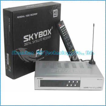 Original Skybox F4 free shipping HD satellite receiver with GPRS VFD Display support usb wifi weather forecast  post