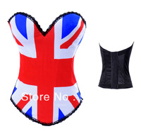 Beautiful and sexy  UK flag corset with top material