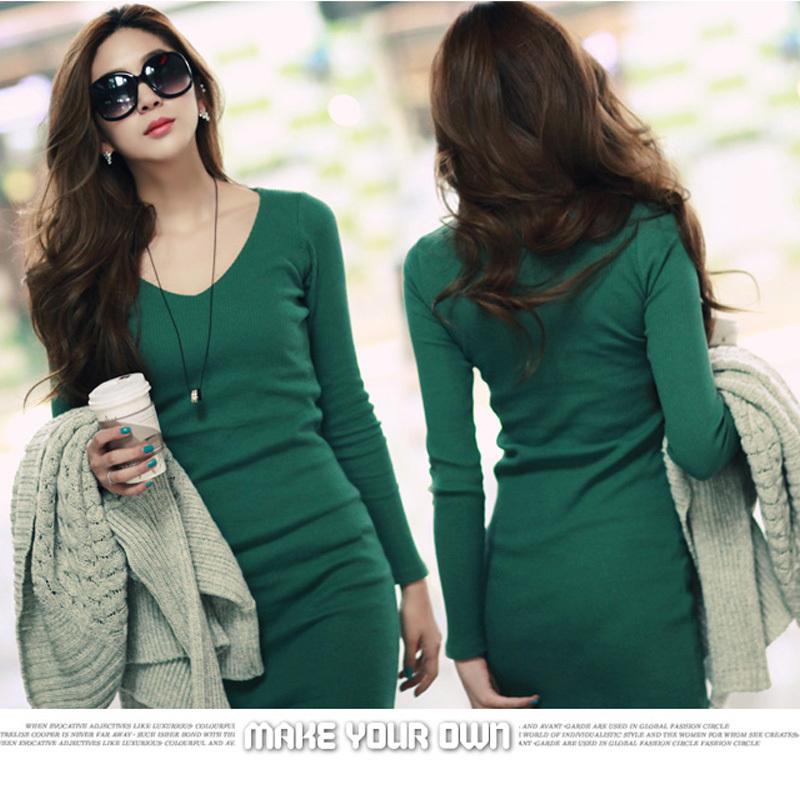 Black O Neck Dresses Women New Korean Tops For Ladies Ol Dress Skirt ...