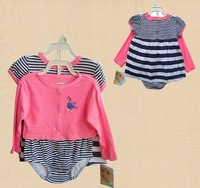 FREE SHIPPING!Fashion children's clothing vitamins 13 female child one-piece dress triangle set female child set outerwear