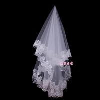 The bride wedding dress veil 2014 hair accessory long design veil lace computer laciness veil
