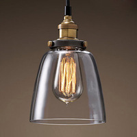 New 2014 Vintage pendant light american style lamp pendant light dining room pendant light glass cover lamps d8173