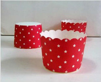 100X Red Star Wedding Paper Baking Cups Cupcake Liners Assorted