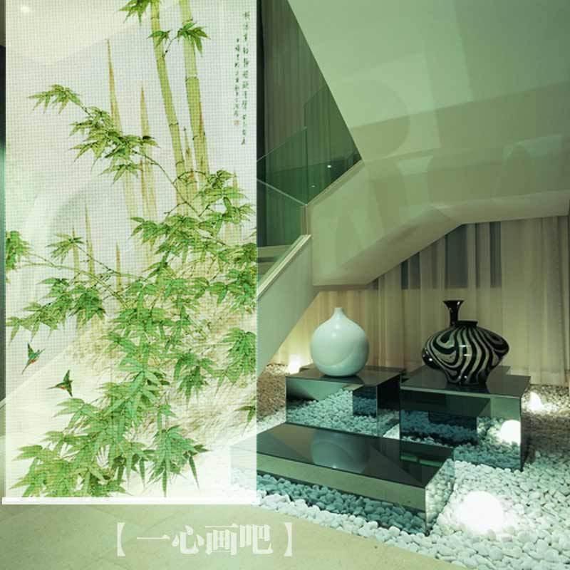 100 cm * 200 cm cor verde imagem bambu sala de impressão rolo divisores blinds cair telas(China (Mainland))