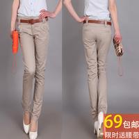 Spring and summer trousers skinny pants pencil pants slim ol pants casual pants