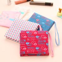 free shipping Portable sanitary napkin bag velcro sanitary napkin storage bag storage bag p2808