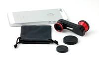 Free shipping 10pcs/lot S Shape 3 In 1 Lens 180 Degree Fisheye Lens + Macro Lens + Wide-angle Lens For iphone5