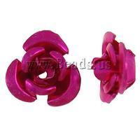 Free shipping!!!Aluminum Jewelry Beads,Kawaii,, Flower, painting, fuchsia pink, 6x7x4mm, Hole:Approx 1mm, 950PCs/Bag