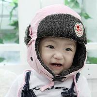 3pcs/lot  Baby Winter Cap Waterproof Kid Winter Warm Hat Earflap Russian Trapper Hat Russian Baby Hat Free shipping