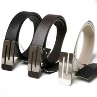 Pu soft faux leather pin buckle belt casual all-match strap