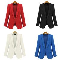 Free Shipping 2015 Spring Autumn fashion female slim blazer,fashion One button suit jacket plus size S M L XL XXL XXXL XXXXL