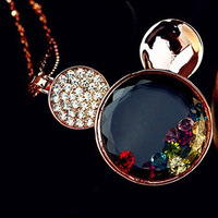 2013 new trendy fashion alloy enamel jewelry necklace colorful  crystal FREE SHIPPING!!!