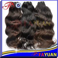 Fayuan hair: Fast shipping shedding free virgin malaysian hair weave 5a cheap ocean wave natural color 2pcs/lot