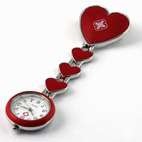 New Arrival! 1PC Fashion Red Heart Red Cross Nurse Pocket Watches Pendant for Doctors Hospital. Free & Drop Shipping