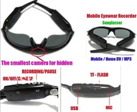 Hot Sale Mini DV DVR Sunglasses Camera Video Recorder 1280*960 support Micro SD Card Free Shipping