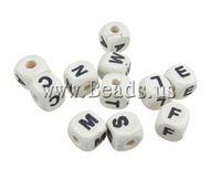 Free shipping!!!Wood Beads,Wedding Jewelry, Cube, white, 10mm, Hole:Approx 3mm, 100PCs/Bag, Sold By Bag