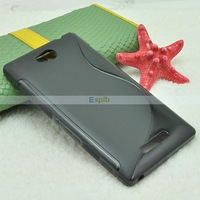100pcs/Lot Anti Skid Gel S Line Soft Back Cover TPU Case for Sony Xperia C S39h