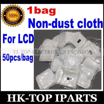1bag =50pcs Mobile phone LCD LED Repair clean cloth separating machine vacuum packing  anti-static microfiber dusting YL4090